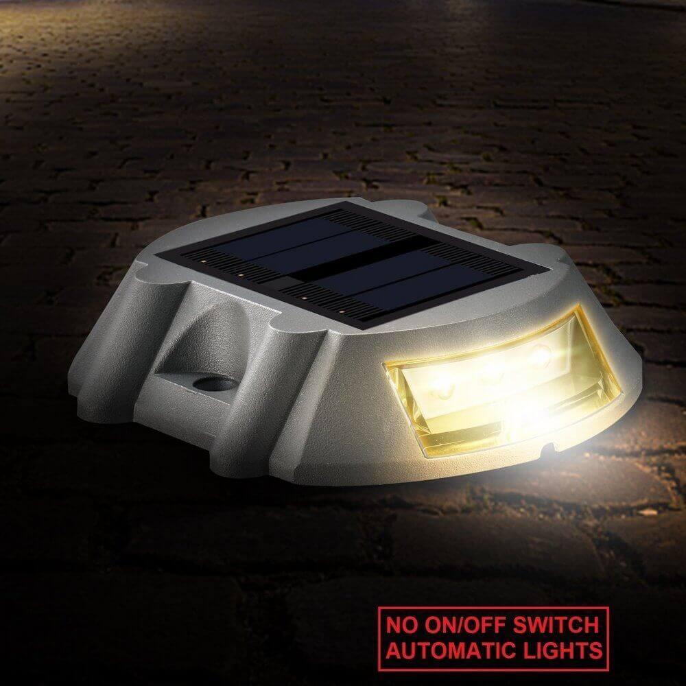 Hardoll Solar Light For Home Garden LED Road Stud Waterproof Outdoor Lamp(White)