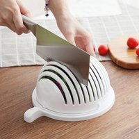 Salad Cutter Bowl (Random Colors)
