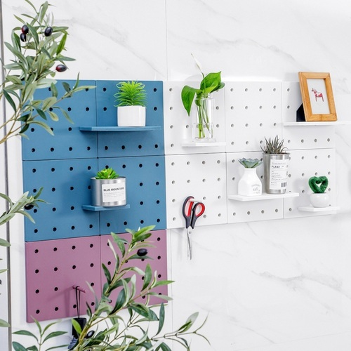 Wall Peg 2 Board & 2 Big 2 Small Shelf (Random Color)
