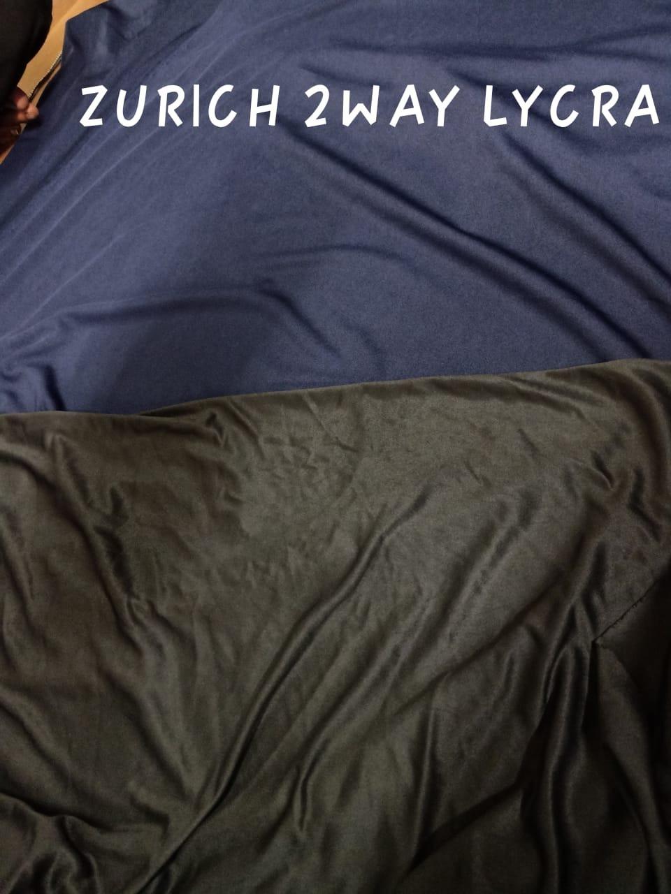 Polyester Silky Lycra ( Zurich micro - 2 way ) Fabric