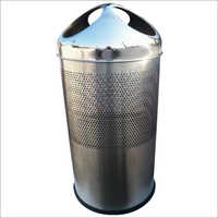 Silver Stainless Steel Three Hole SS Bin