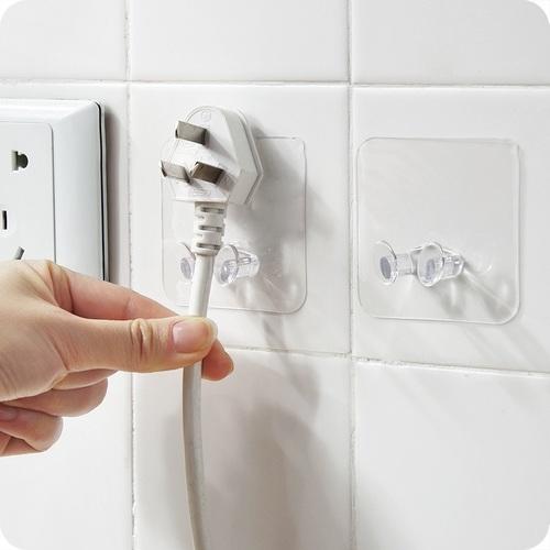5 Pcs Adhesive Plug Socket Holder