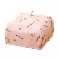 Insulated Food Cover Small Cherry Print (Peach)
