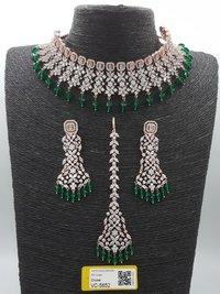 American Diamond Necklace Set for Wedding