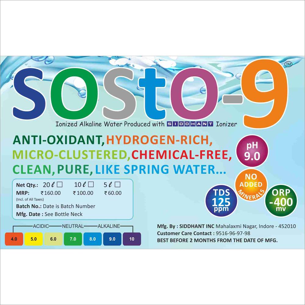 SOSTO9 Drinking Alkaline Water