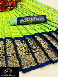 Wv Present New cotton silk saree With chex box 🤩