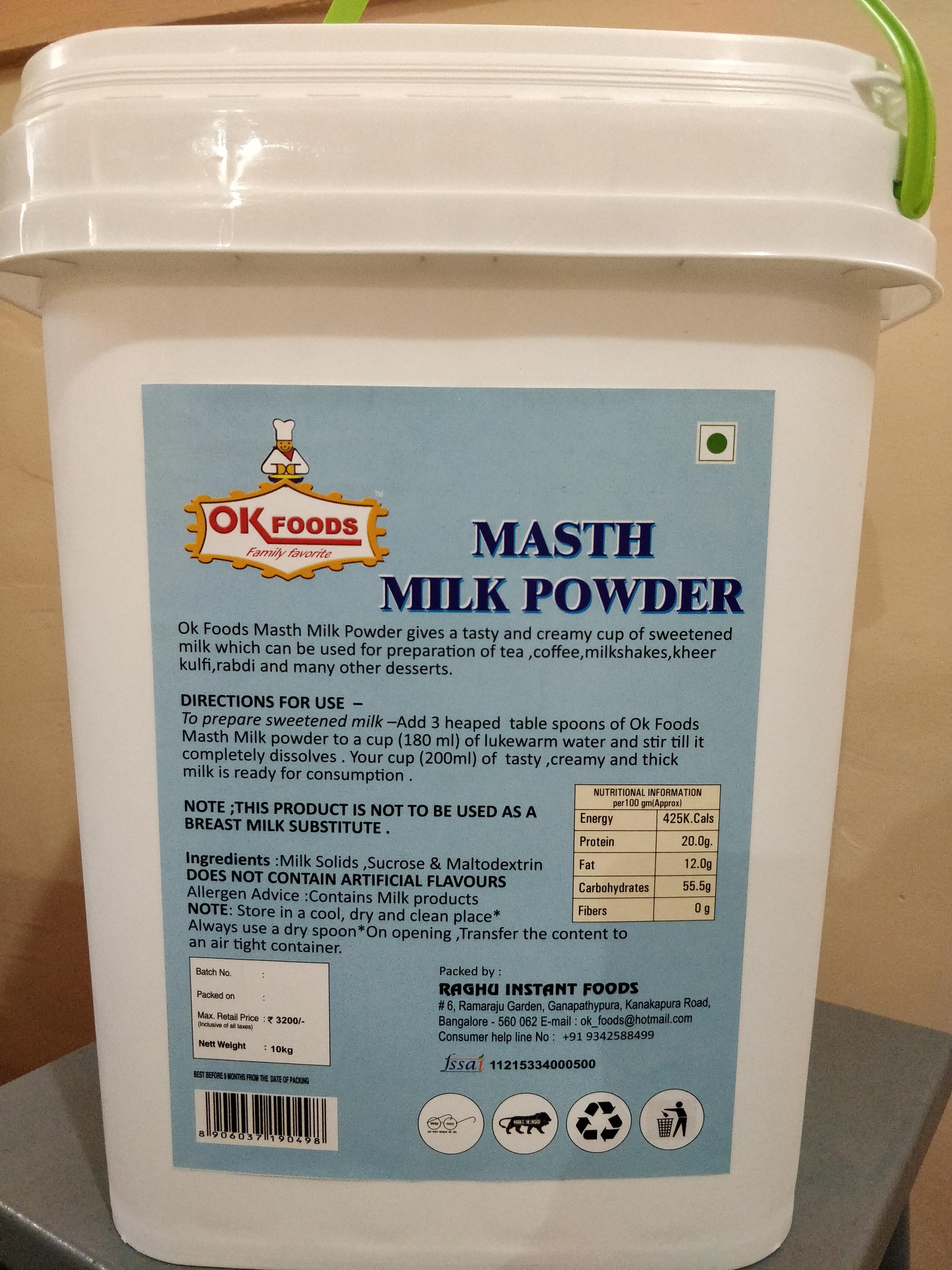 Dairy whitner
