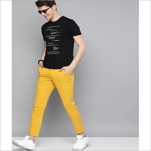 Men Stretched Washed Chino Trousers