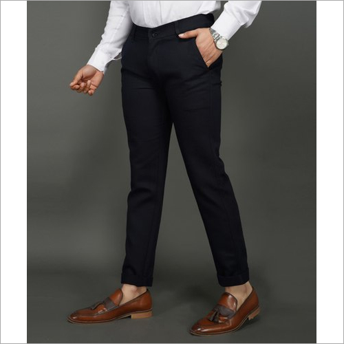 Mens Blue Slim Fit Trouser