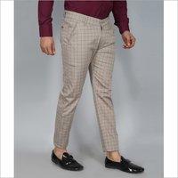 Mens Check Slim Fit Trouser