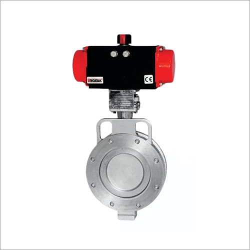 Offset Disc Butterfly Valve With Pneumatic Rotary Actuator
