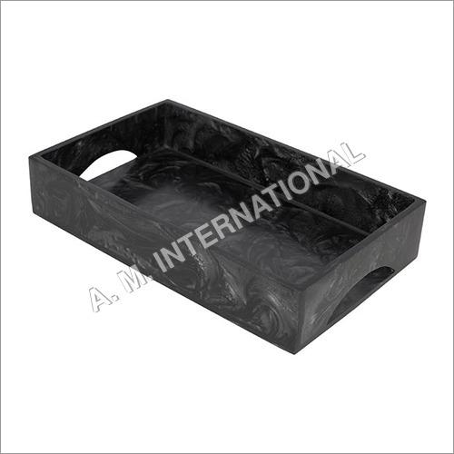 Black Resin Tray