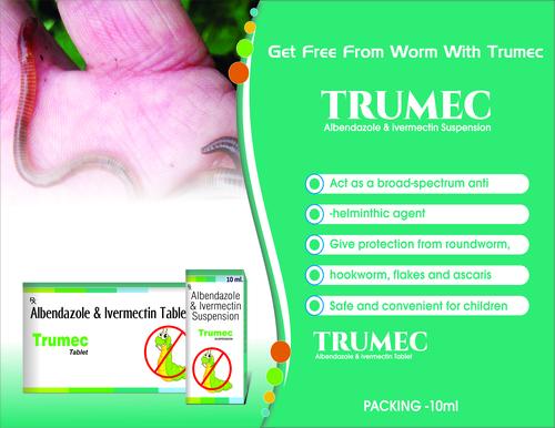 Truworth Trumec Suspension (Albendazole, Ivermectim Suspension)