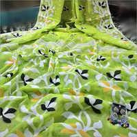 Ladies Green Soft Jamdani Saree