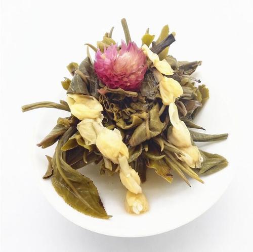 Unique Artistic Gomphrena globosa Tea 100% Beautiful Handmade Blooming Tea Ball