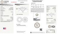 Round Brilliant Cut CVD 1.08ct Diamond D VS1 IGI Certified Lab Grown TYPE2A 451057324