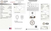 Pear Shape Diamond 1.15ct H VS1 Lab Grown IGI Certified Stone 451054616