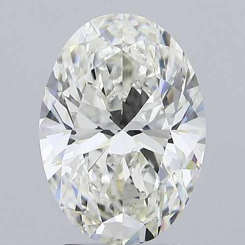 2.70ct H VS1 CVD IGI Oval Brilliant Cut Diamond