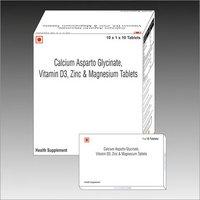 Calcium asparto glycinate tablet