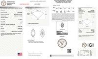 Marquise Cut 1.41ct H VVS1 CVD IGI Certified Lab Grown Diamond TYPE2A 447092687