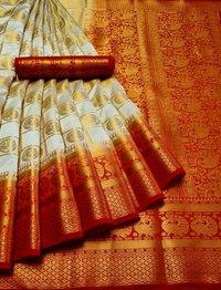 Banarasi Moor Chex Saree