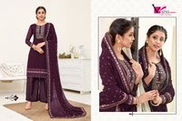 Australian Georgette With Heavy Embroidered Suit