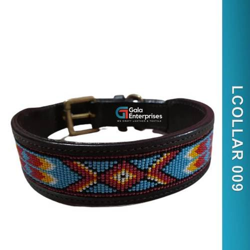 Dog Colored Leather Collar