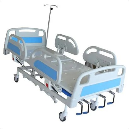 White Manual Icu Bed With 5 Function