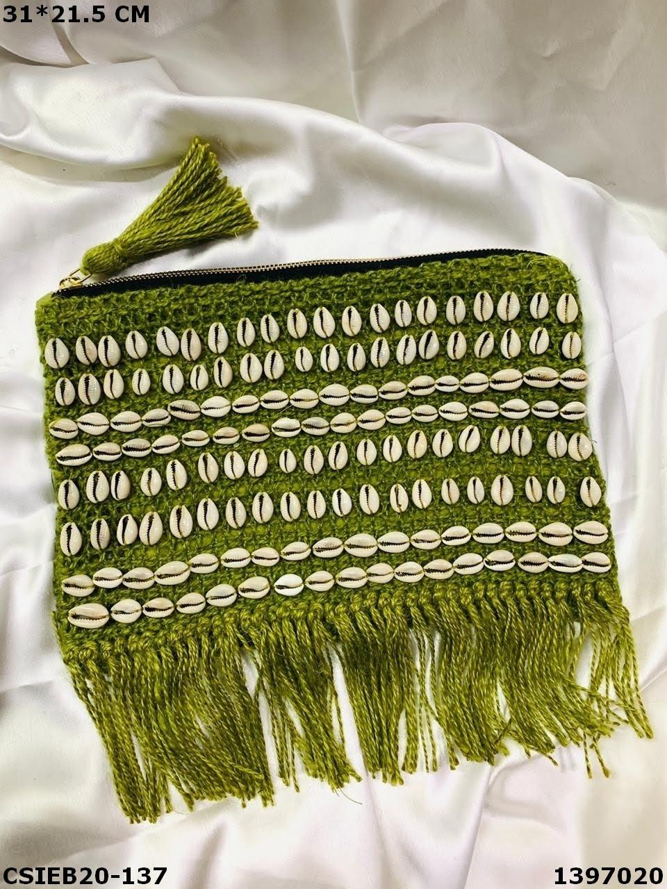 Stylish Handloom Cotton Weaving Pouch Bag