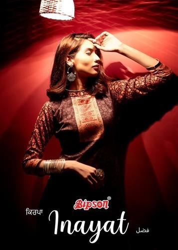 INAYAT Woollen Pashmina Digital Print Designer Dress Material