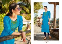 Anuroop Vol 4 Rubby Silk With Embroidery Work Kurti