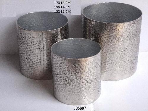 Hammered Aluminium Flower Vase