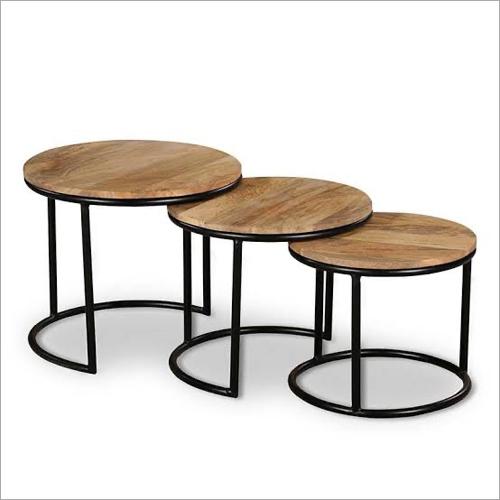 Iron & Wood Table Set