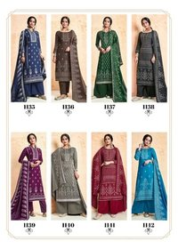 Ruhi Pashmina Dyed Mirror Work Suits