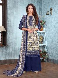 Season Pashmina Printed Plazzo Suits