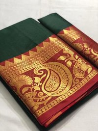Pure Mercerised Cotton Silk In Exclusive Border Design!!