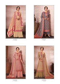 Silk Pashmina DIgital Printed Salwar Suits