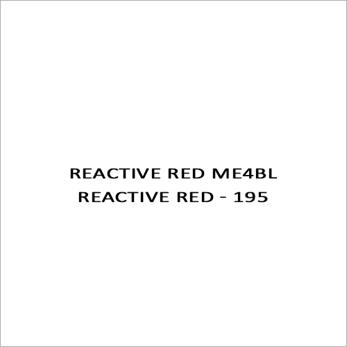 Reactive Red ME4BL Reactive Red - 195