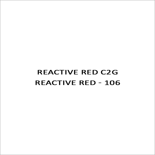 Reactive Red C2G Reactive Red - 106