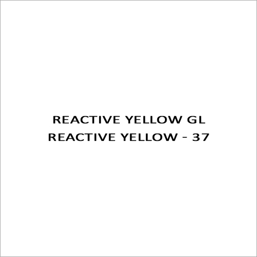 Reactive Yellow GL Reactive Yellow - 37