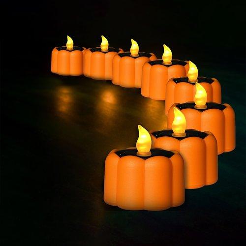 Garden Decorative Outdoor Led Flower Tea Diwali Diya Waterproof Lamps