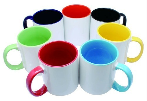 Sublimation Inner & Handle Color 3 Tone Mugs