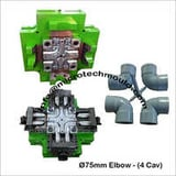 75 mm 4 Cav PVC Pipe Elbow Moulds