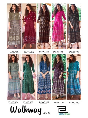 Walkway Vol 9 Rayon Long Kurti