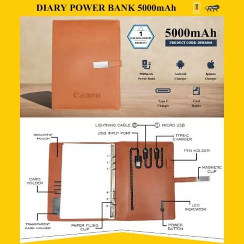 Diary Power Bank 5000mAh