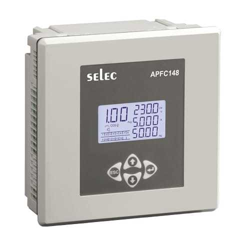 APFC148-312-90/550V SELEC LCD Type Automatic Power Factor Controller With 12 Relay