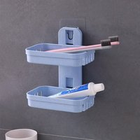 Double Layer Soap Dish Tray With Sticker