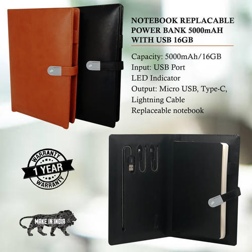 Notebook Replacable Power Bank 5000mAh with USB 16 GB