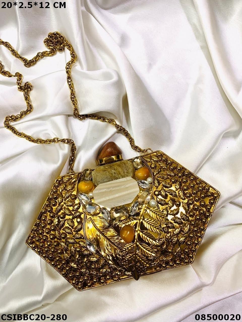 Stylish Brass MOP Clutches
