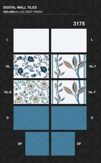30 X 45 Cm Hd Shine Glossy Digital Ceramic Wall Tiles